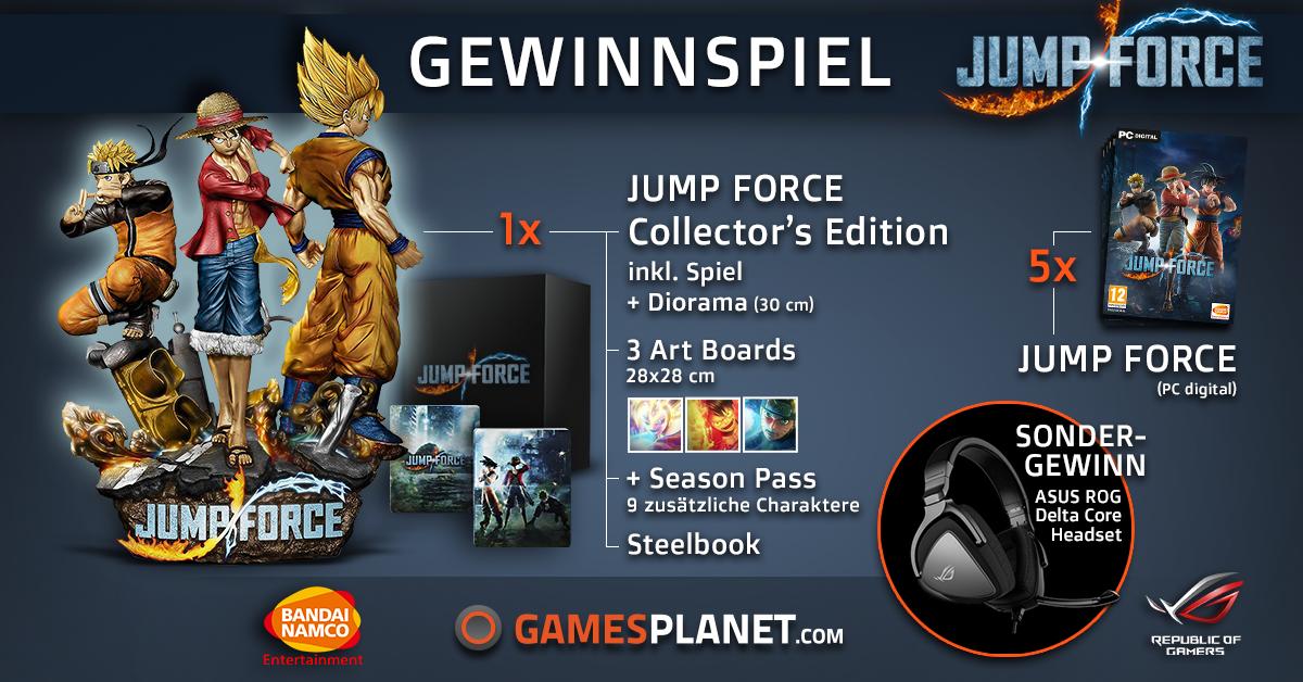 Gewinnt die Collector's Edition von JUMP FORCE, 5x das Spiel und ein ASUS-Headset Giveaway Image