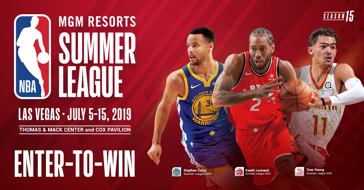 Win a VIP experience to NBA summer league 2019! Three Winners Giveaway Image
