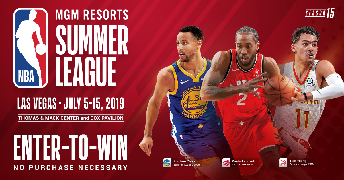 Enter to Win a VIP Experience at the 2019 NBA Summer League in Las Vegas Giveaway Image