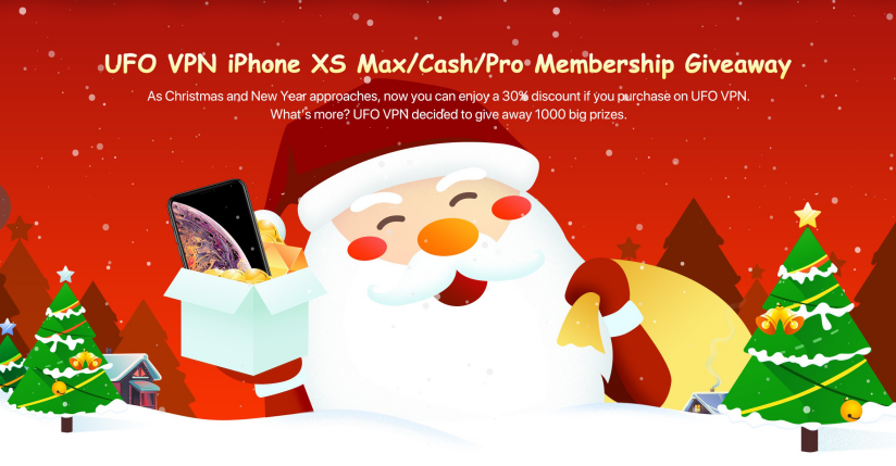 Win UFO VPN Service, iPhone XS Max or $40 Cash - 250 Winners Giveaway Image