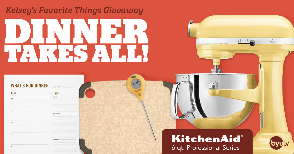 Win a Kitchen Aid mixer and a cooking prize pack Giveaway Image