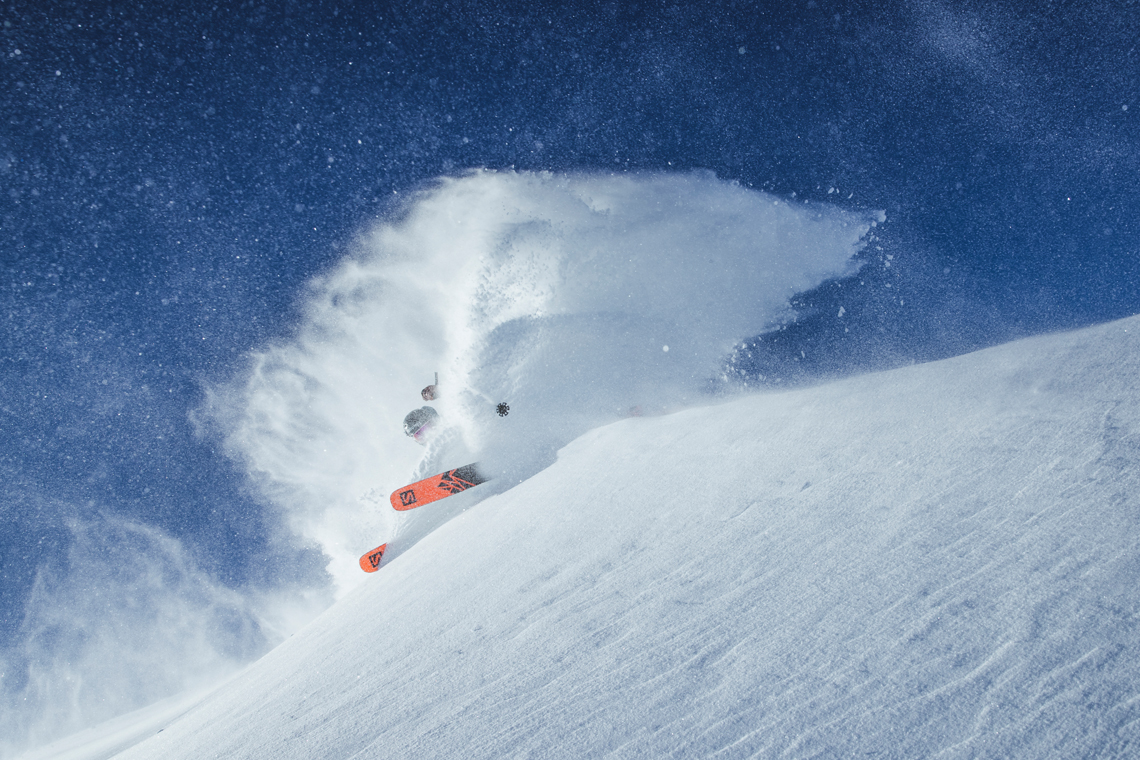 Enter for a chance to win a pair of Salomon QST 106 or Stella 106 skis, worth $750 Giveaway Image