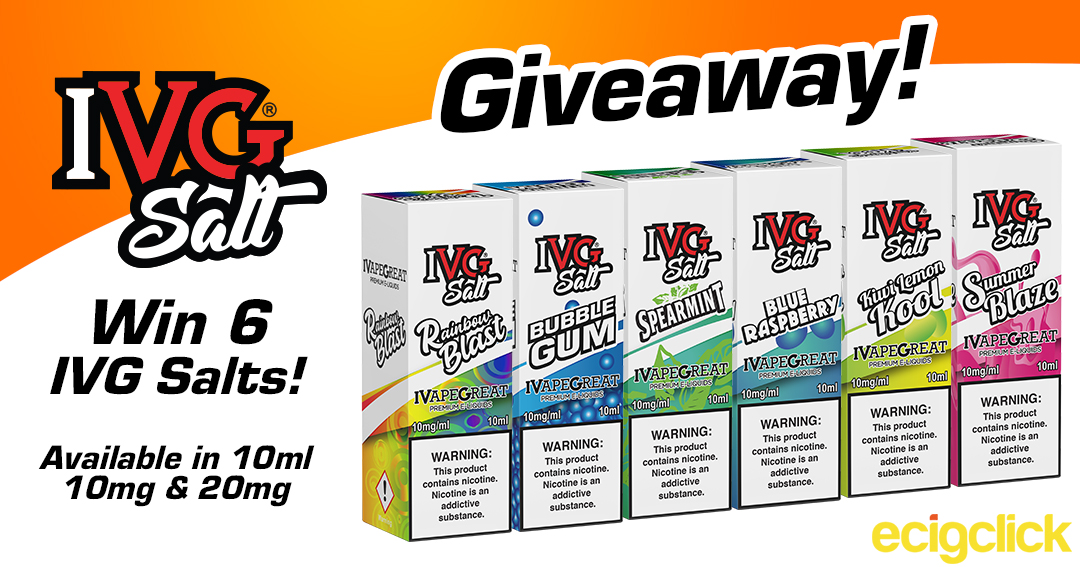 Win 1 of 10x 360ml of vaping e-liquid Giveaway Image