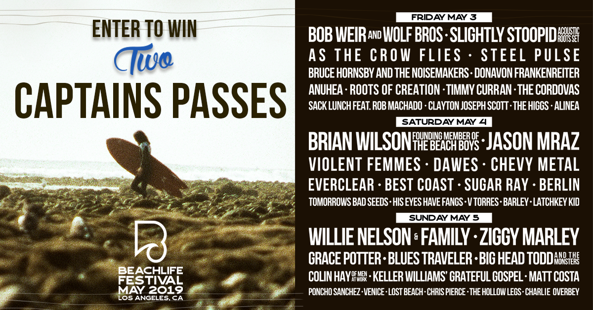 Win 2x 3-day Captain's passes ($5000) to BeachLife Festival Los Angeles Giveaway Image