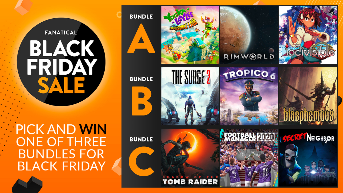 Pick and win one of three Black Friday game bundles Giveaway Image