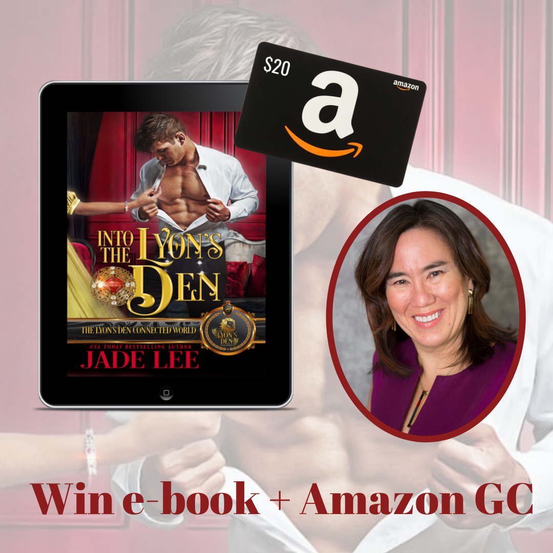 Enter to win a $20 Amazon Gift Card from author Jade Lee  See Rules for exclusions Giveaway Image