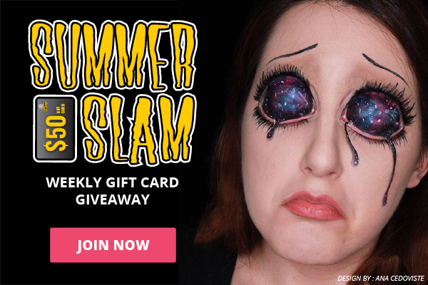 Enter into Summer Slam Weekly Giveaway for a chance to win a $50 Gift Card to HalloweenMakeup.com Giveaway Image