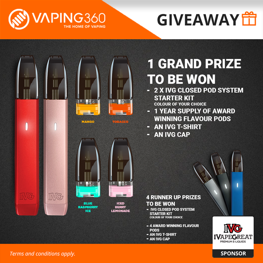 1 Year Supply of Pods & IVG Closed Pod Systems Giveaway by IVG Giveaway Image