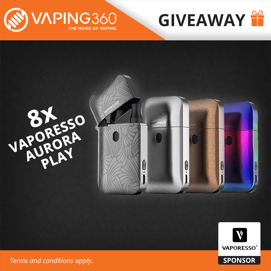 8 x Vaporesso Aurora Play Giveaway Giveaway Image