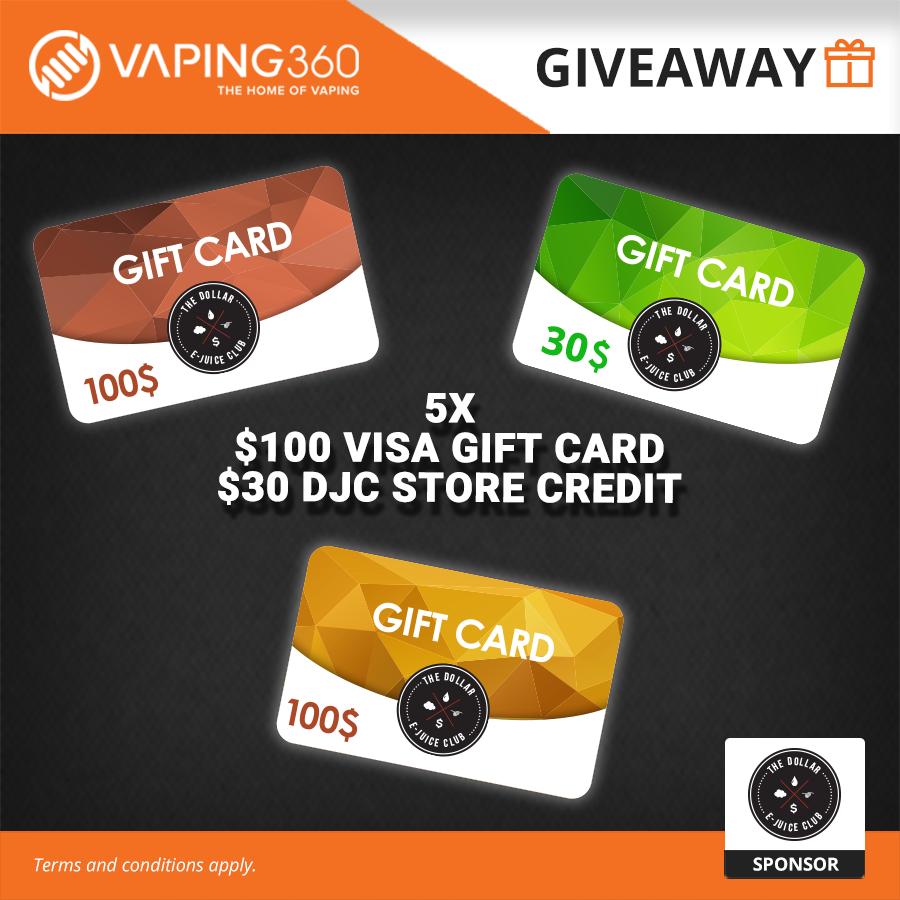 5 x $100 Visa Gift Card Giveaway Image