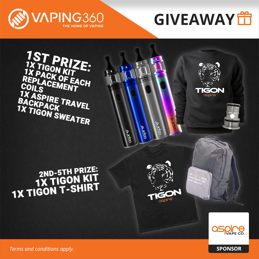 Win 5 x Tigon Kit, Travel Backpack, Tigon Apparel Aspire Giveaway Image