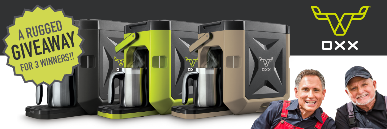Win an OXX COFFEEBOXX coffee maker - 3 winners Giveaway Image