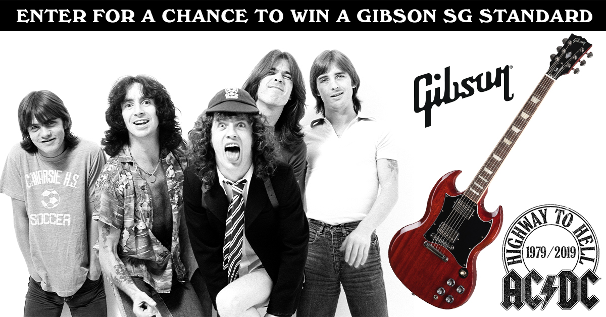 Enter to win the AC/DC standard Gibson guitar Giveaway Image