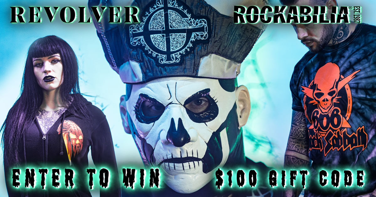 Enter for a chance to win a $100 Rockabilia eGift Code and a one-year subscription to Revolver Magazine! Giveaway Image